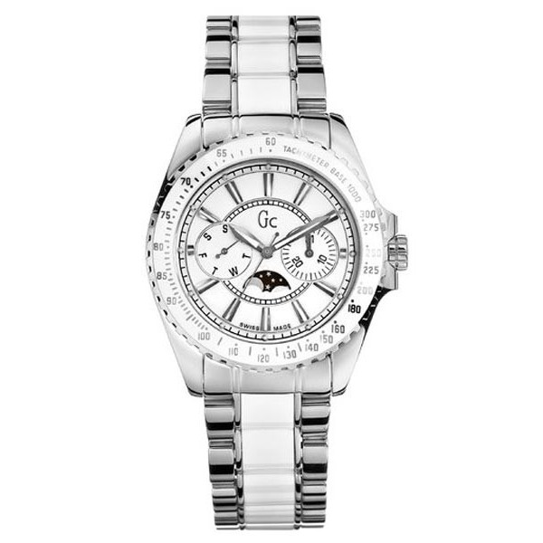 Guess Collection GC Ladies White Class Moon Watch I41005M1