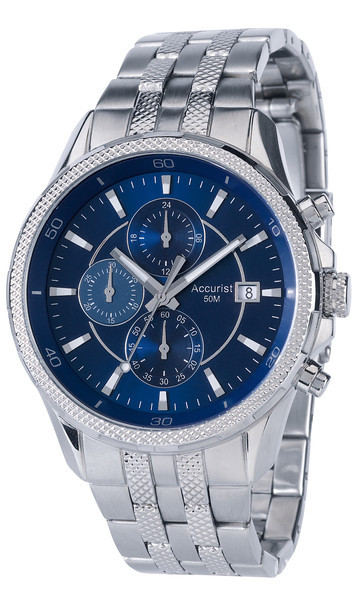 Accurist Mb935n Mens Chronograph Blue Face Watch