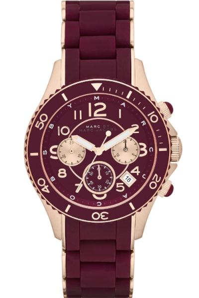 Marc By Marc Jacobs Watches Mbm2596 Mens Maroon Rock Watch