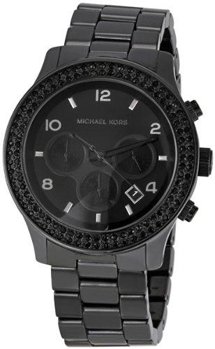Michael Kors Latest Black Out Ceramic Chronograph Ladies ... Michael Kors Watches Black Ceramic