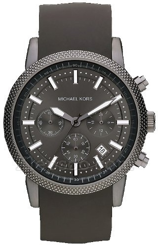 Michael Kors Watches Mk8241 Mens Black Rubber Strap