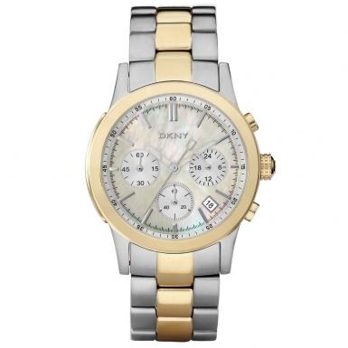 Dkny Ladies Gold Amp Silver Chronograph Watch Ny8061