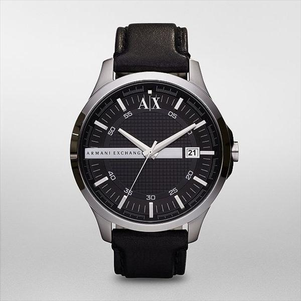 armani ax exchange whitman black black leather mens