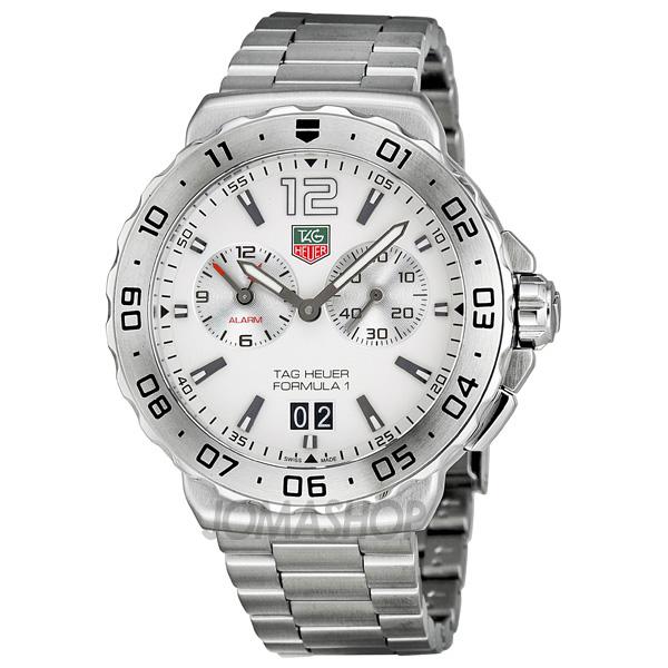 Tag Heuer Formula 1 White Dial Mens Watch Wau111b Ba0858
