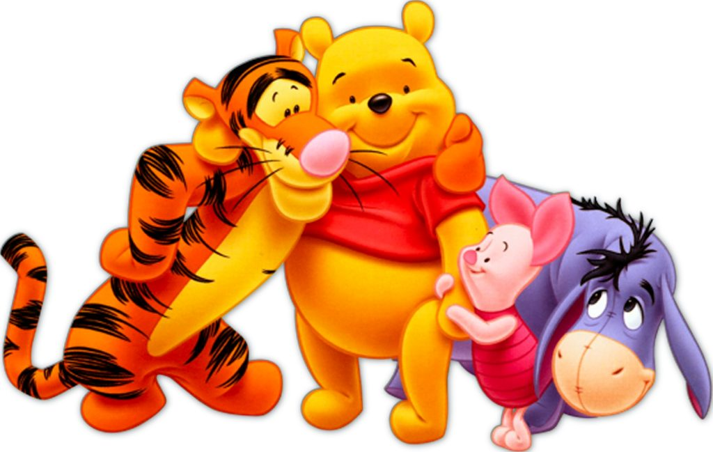 It is a graphic of Witty Baby Winnie the Pooh and Friends