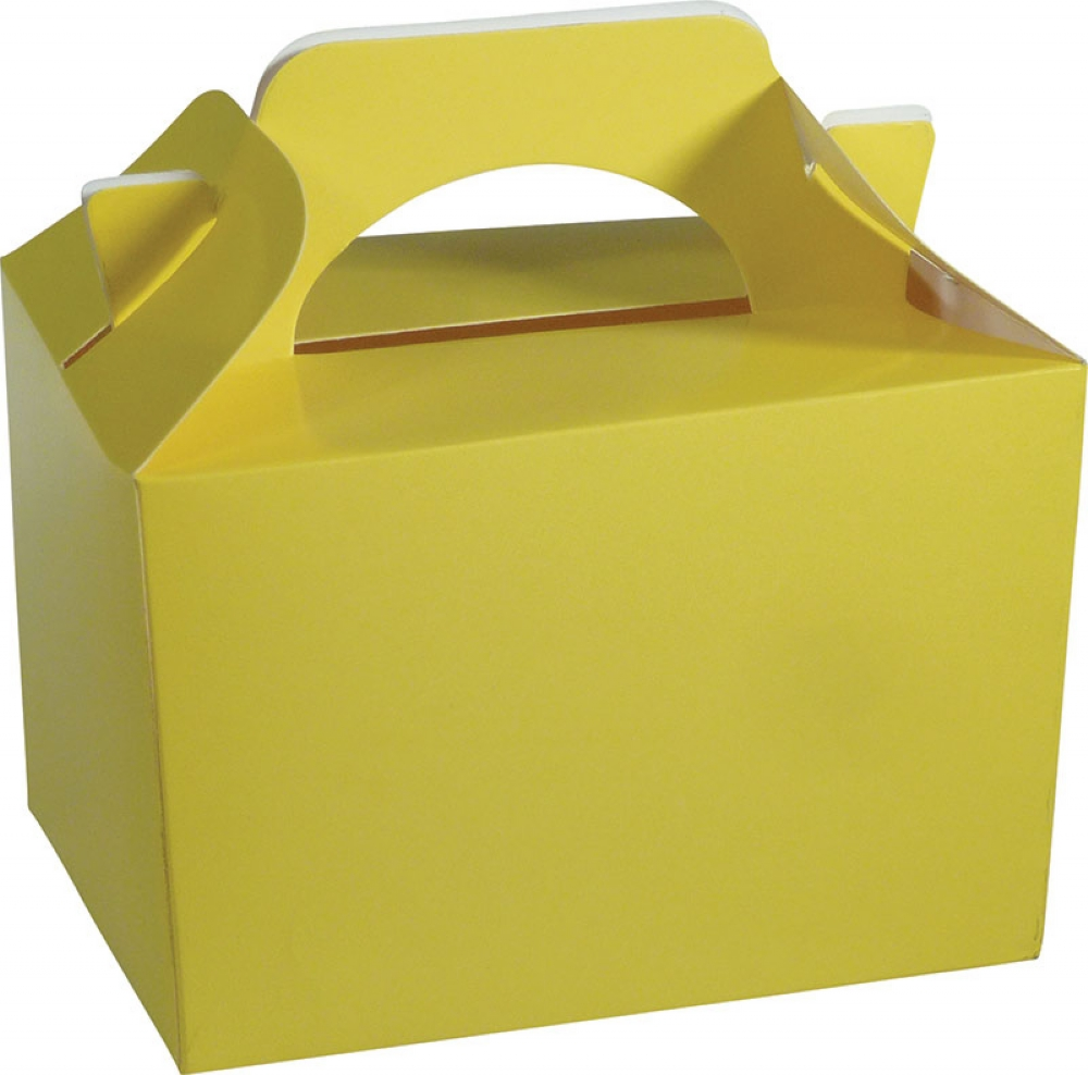 50 X Yellow Food Boxes