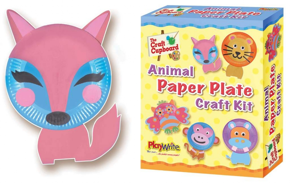 Wrapped Grotto Toys Paper Plate Animal Craft Kit X 6