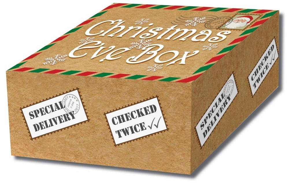 12 x parcel design christmas eve boxes