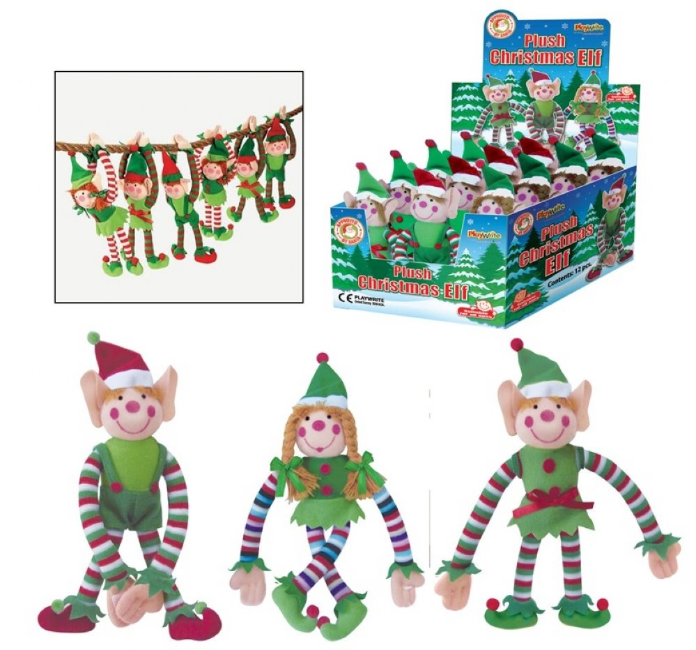 12 x plush christmas elf