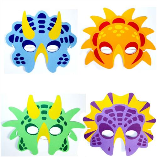 graphic regarding Dinosaur Mask Printable named 72 x Foam Dinosaur Masks