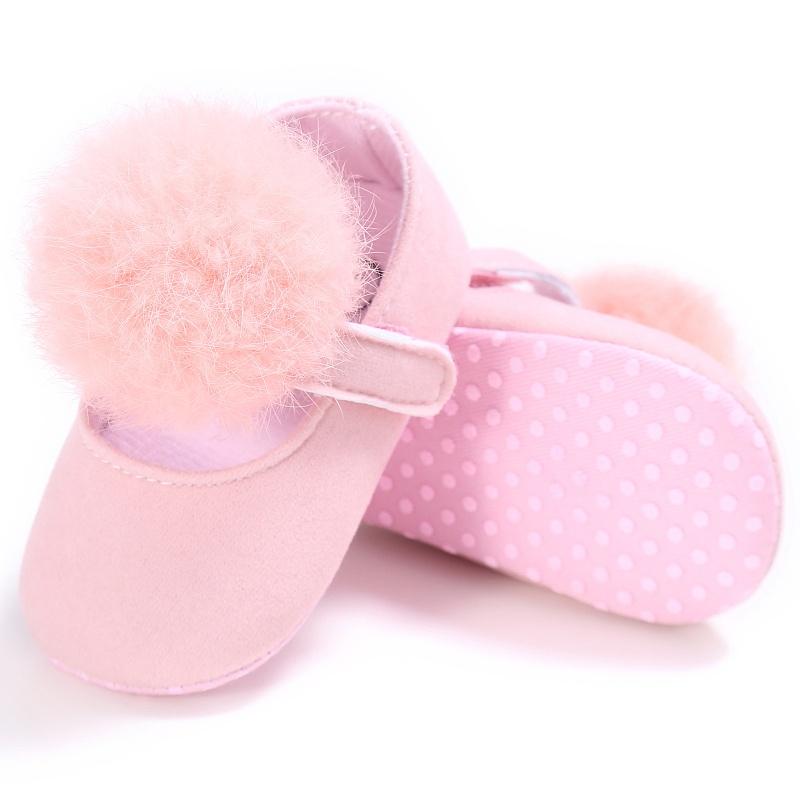 bb063f9327b Pink Fluffy Pom Pom Shoes