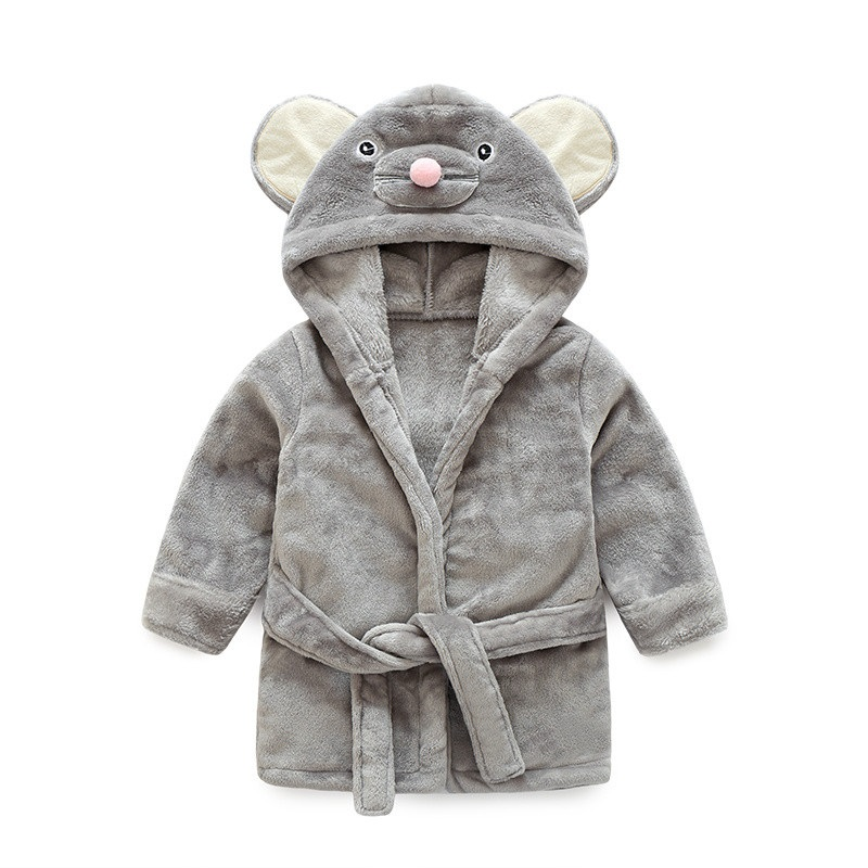 Grey Mouse Dressing Gown House Coat