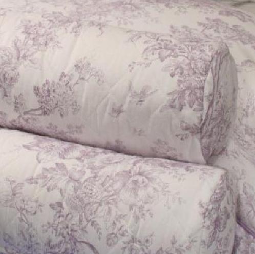 lilac toile de jouy single bedspread. Black Bedroom Furniture Sets. Home Design Ideas