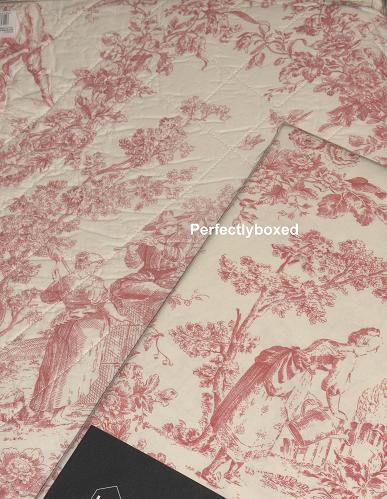 toile de jouy double duvet pink. Black Bedroom Furniture Sets. Home Design Ideas