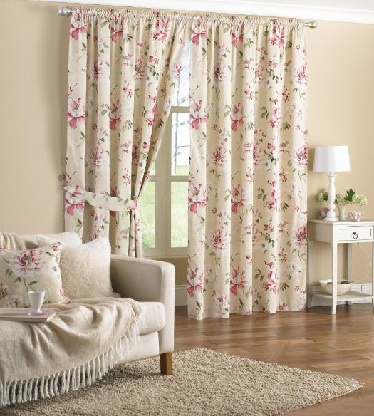 Pink Floral Curtains 66 x 72 www.perfectlyboxed.com