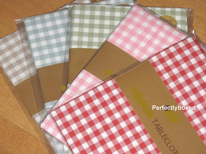 Pink Gingham Tablecloths Www Perfectlyboxed Com