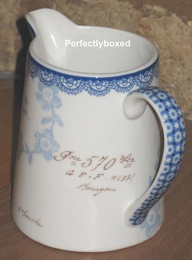 vintage floral blue jug. Black Bedroom Furniture Sets. Home Design Ideas