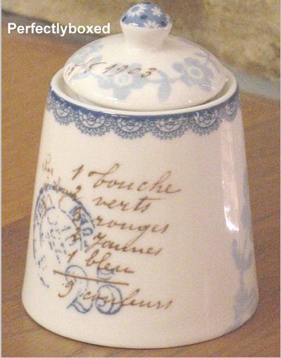 vintage floral sugar bowl. Black Bedroom Furniture Sets. Home Design Ideas