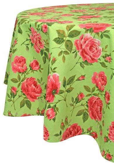 Green Pink Floral Tablecloth 52 X 52 Inch Vintage Hampton