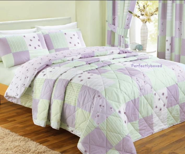 Purple Patchwork Bedspread throw at www.perfectlyboxed.com : purple quilt bedding - Adamdwight.com