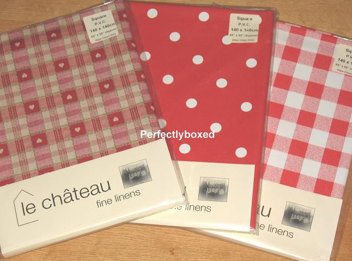 Red Check Tablecloth 140 X 140cm Oilcloth. Red Gingham Check Tablecloth  140cm Square Oilcloth