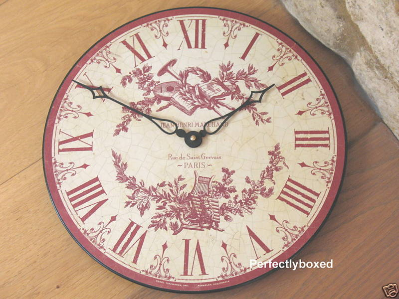 Toile De Jouy Clocks Www Perfectlyboxed Com