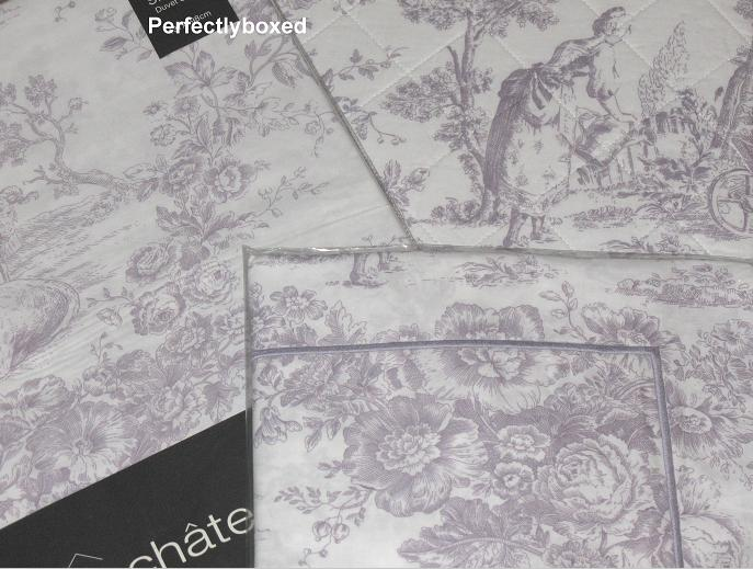Lilac Toile De Jouy Double Bedspread Www Perfectlyboxed Com