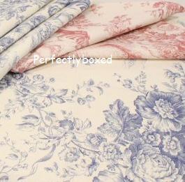 Toile de jouy blue tablecloth at - Housse de couette toile de jouy ...