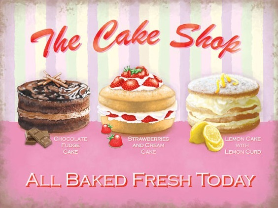 Metal Sign The Cake Shop Www Perfectlyboxed Com