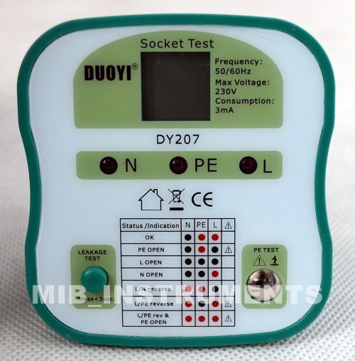 Electrical Socket Tester : Electrical socket tester plug versions cn eu uk us dy