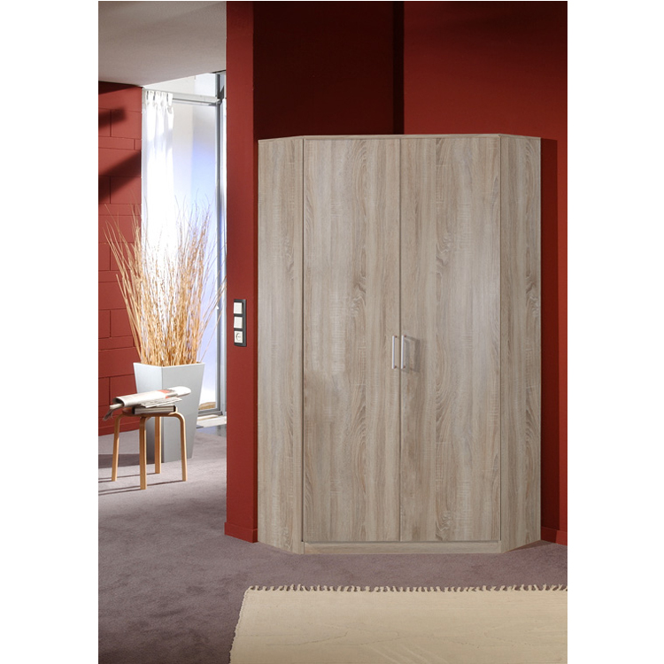 Oak Effect 2 Door Corner Wardrobe on