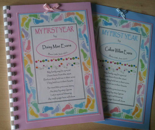 Personalised baby memory record book my first year personalised baby recordmemory book my first year solutioingenieria Images