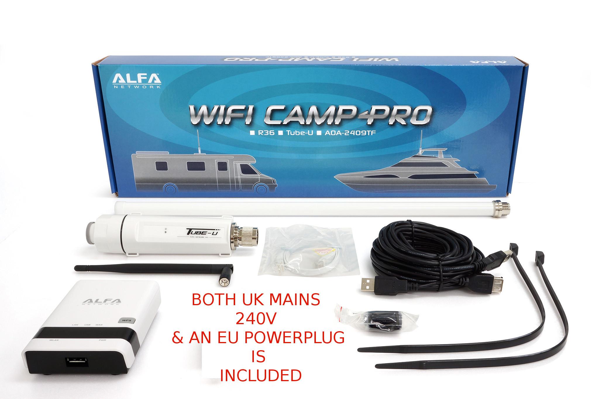Alfa Network WiFi Camp-Pro G, 1 X R36 ,1 X Tube U G & 1 X