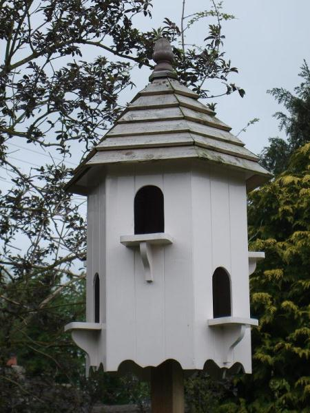 Hexagonal Dovecote for post mounting