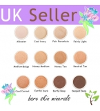 Bare skin minerals Foundations, 12 Shades to choose from, 12 gram jars