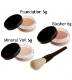 Bare Skin Minerals 4 piece make up set with goat..