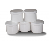 5PCS 500ml White Jars with Lids