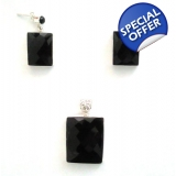 Onyx Sterling Silver Set