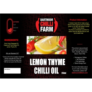 Lemon Thyme Chilli Oil