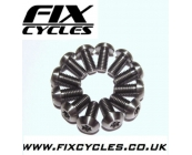 T25 Titanium Disc Rotor Bolts - M5 x 10mm