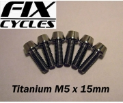 Titanium Ti M5 x 15 mm Taper Head Bolt Screw wit..