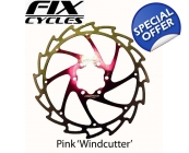 PINK Alligator Windcutter Disc Brake Rotor 160, ..
