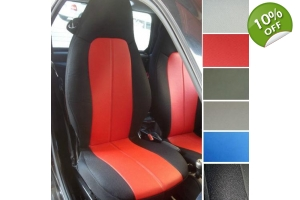 Leatherette Two Custom Car Seat Covers fits on Smart seats