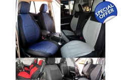 Two Front Cotton & Synthetic Custom Car Seat Cov..