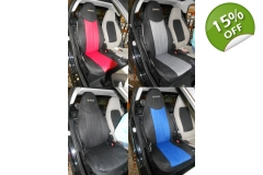 Custom Synthetic Two Car Seat Covers fits Smart ..