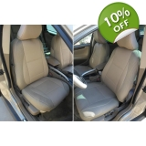 Volvo tan leatherette custom fit two f..