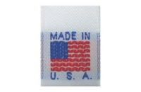 Stock Woven Made in USA..