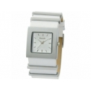 Bench Ladies Silver Dial White Leather..