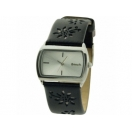 Bench Ladies Silver Dial Black Leather..