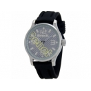 Bench Mens Silver and Grey Dial Black ..